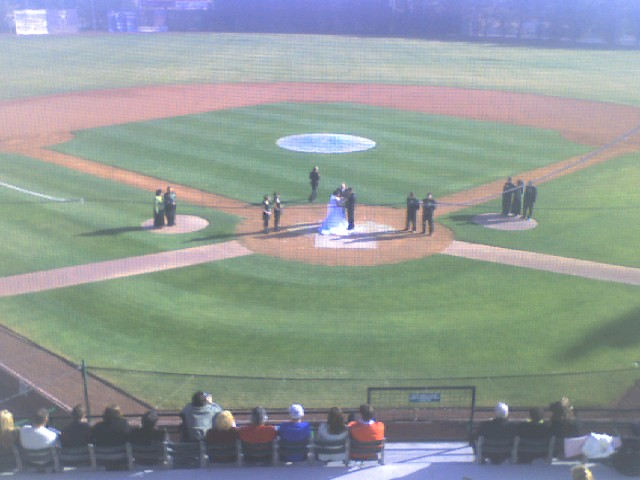 wedding at home plate